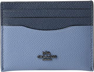 COACH Women's Flat Card Case in Color Block Leather