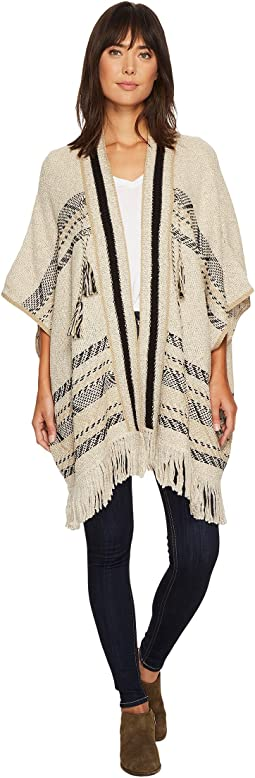 Stripe Poncho Sweater
