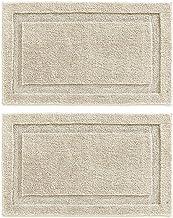 mDesign Soft Microfiber Polyester Non-Slip Rectangular Spa Mat, Plush Water Absorbent Accent Rug for Bathroom Vanity, Bath...