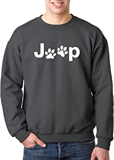 New Way 890 - Crewneck Jeep Dog Paws Logo Unisex Pullover Sweatshirt