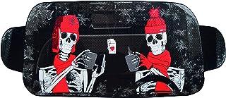 OK Cars AZ WAA 045 Auto Frontscheibenabdeckung, Winterschutz Frontscheibe gegen EIS, Frost und Schnee, Faltbare Abdeckung Motiv Skelett, 150 x 70 cm
