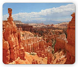 Lunarable National Park Mouse Pad, Arches Bryce Canyon Utah Geographical Imagery Sunset Point, Rectangle Non-Slip Rubber M...