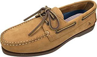 Rugged Shark Men's Boat Shoe, Classic Look, Premium Genuine Leather, with Odor Control Technology, Size 8 to 13