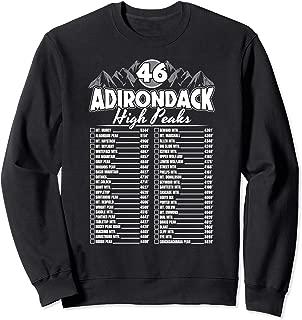 46 Adirondack Mountain Climbing Checklist Sweatshirt