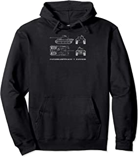 Panzer V Panther Tank German Army Blueprint WWII Gift Pullover Hoodie