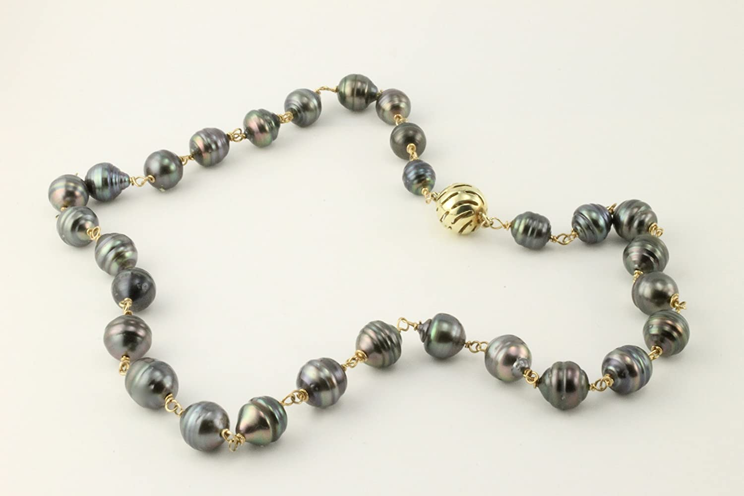 South Finally resale start Sea Black Pearl Necklace Gold Special price for a limited time