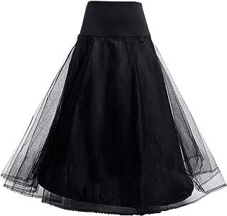 AW Women's A Line Petticoat Tulle Long 1 Hoop Wedding Petticoat Slip Crinoline Underskirt