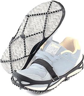 دستگاه کشش زمستانی Pawaca دستگاه برف یخ ضد لغزش Gripper Ice Grips را برای کفش های پیاده روی ، آهسته دویدن ، پیاده روی برف و یخ
