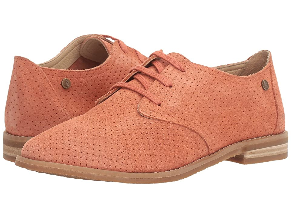 Hush Puppies Aiden Clever (Coral Suede Perf) Women's Slip-on Dress Shoes, Brown