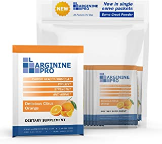 L-arginine Pro Supplement ON-The-GO Single Serve Travel Packets - 5,500mg of L-arginine Plus 1,100mg L-Citr...