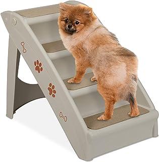 Relaxdays Hundetreppe 4 Stufen, kleine & große Hund