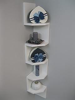 Estantería Pared Diseño Zig Zag Mod.20 // 5 Estantes Especial Esquinera. Blanco/Color (Blanco)