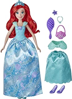Disney Princess Style Surprise Ariel Fashion Doll with 10 Fashions and Accessories, Hidden Surprises Toy for Girls 3 Years...