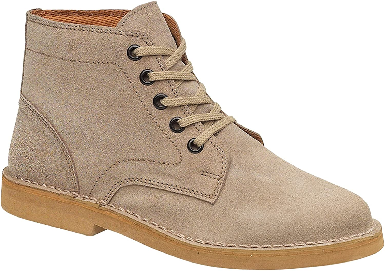 Amblers Lace-Up Textile Lined Mens stivali - Taupe - Dimensione 6 7 8 9 10 11