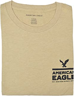 012bbfb3 American Eagle Mens Short Sleeve AE 1977 Graphic T-Shirt, Beige