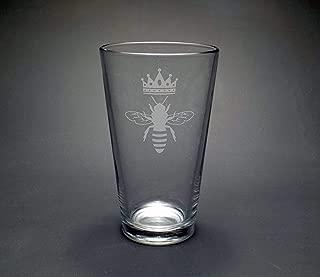 Personalized Pint Glasses GW-PG16-1410 Groomsmen Pint Glass Antler Pint Glass Groomsmen Gift