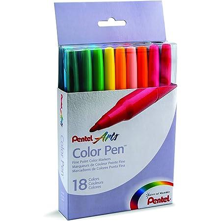 Box of 12 Fine Point Black Ink S360-101 Pentel Arts Color Pen Marker