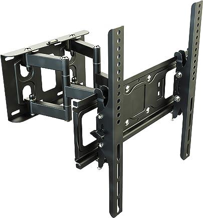 RICOO TV Wandhalterung Schwenkbar Neigbar S6244 Universal LCD Wandhalter Ausziehbar Fernseher Halterung Curved 4K OLED LED Flachbildfernseher 80cm/32-165cm/65 Zoll/VESA 200x200 400x400 / Schwarz