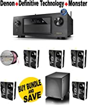 Denon AVR-X4200W 7.2 Channel Full 4K Ultra HD Network A/V Receiver with Wi-Fi and Bluetooth + 5 Definitive Technology - UIWRSSII + Definitive Technology - PS800 + Monster Cable - PLATXPMS50 Bundle