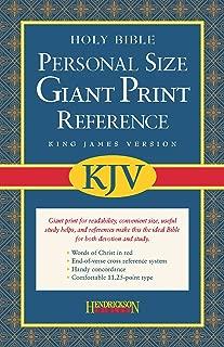 KJV Reference Bible, Personal-Sized, Giant Print - Imitation Leather, Burgundy