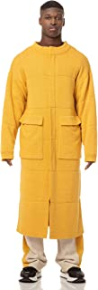 BOGOMIL Men's Knitted Cardigan Structured Yellow Coat Thicker Zipper Outerwear
