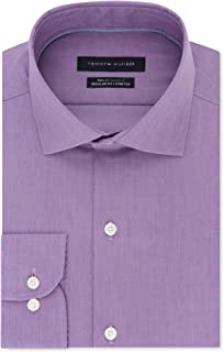 Mens Performance Button Up Dress Shirt wildorchid 18
