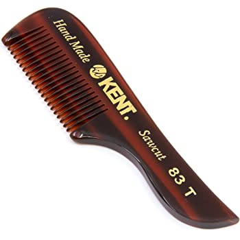 Kent 83T Pocket Comb Beard Comb for Mustache and Beard - Travel Kit Sized Beard Comb for Grooming/Beard Care - Fine Tooth Comb Mustache Comb Kent Comb for Mustache Kit Beard Grooming Styling Comb