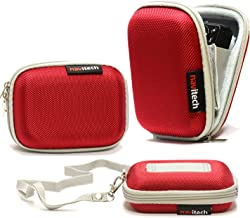 Navitech Red Water Resistant Hard Digital Camera Case Cover Compatible with The Canon PowerShot / S120 / S110 / N / A3500 is