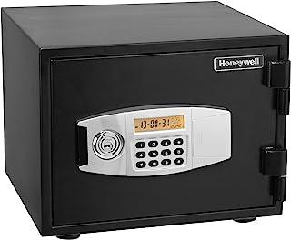 Honeywell Safes & Door Locks - 2111 Steel 1 Hour Fireproof Water Resistant Security Safe with Dual Digital Lock and Key Pr...