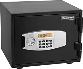 Honeywell Safes & Door Locks - 2111 Steel 1 Hour Fireproof Water Resistant Security Safe with Dual Digital Lock and Key Protection, 0.50-Cubic Feet, Black
