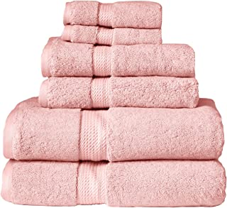 Blue Nile Mills 6-Piece Towel Set,100% Egyptian Cotton, 900 GSM, Tea Rose