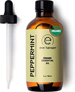 Eve Hansen USDA Certified Organic Peppermint Essential Oil | Huge 4 oz Mentha PIPERITA Stress Relief Essential Oil for Rel...