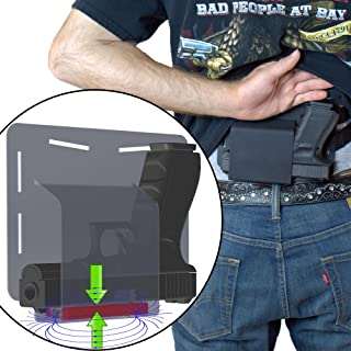 FreedomTactical Magnetic Retention Comfortable Concealed Carry Bellyband Style Gun Holster Got-Your-Back Holster Fits Glock 19 23 38 25 32 26 27 29 30 39 28 33 42 43 36 Smith and Wesson M&P MP Shield