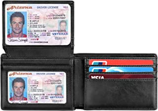 Wallets for Men RFID BLOCKING Leather Stylish Bifold Mens Wallet with 2 ID Windows