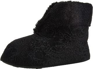 Dearfoams Women's Embossed Velour Bootie Slipper