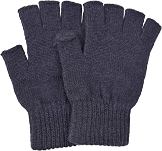 SUNNYTREE Women's Fingerless Gloves Knit Cashmere Warm Winter