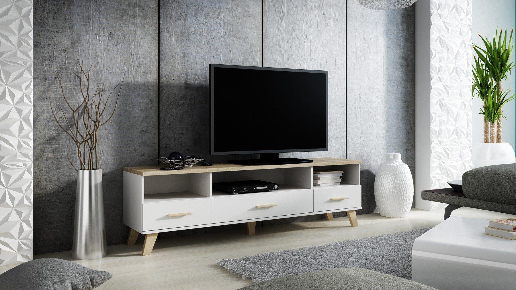 TV – Cómoda TV Mueble bajo TV Armario Lotta: Amazon.es: Juguetes y juegos