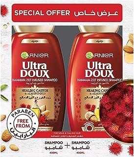 Garnier Ultra Doux Castor and Almond Oils Shampoo, 2 X 400 ml