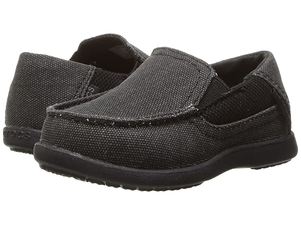 Crocs Kids Santa Cruz II PS (Toddler/Little Kid) (Black/Black) Boy