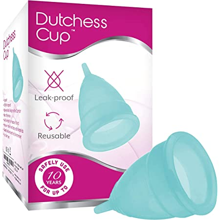 Dutchess Reusable Soft Silicone Menstrual Cup (Blue, Large (Pack of 1))