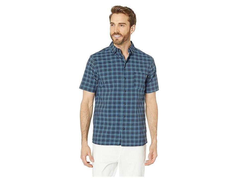 Helly Hansen Fjord QD Short Sleeve Shirt (Navy Check) Men