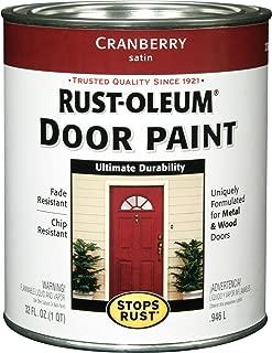 Rust-Oleum 238314 Door Paint, Cranberry, 1-Quart