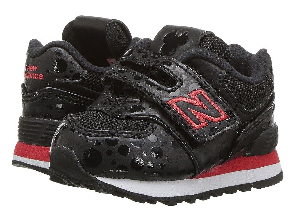 New Balance Kids IV574v1 Minnie Rocks the Dots (Infant/Toddler) (Black/Red) Kids Shoes