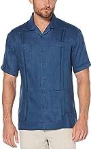 Cubavera Men's Short Sleeve 100% Linen Cuban Camp Guayabera Shirt