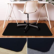 Office Marshal Black Polycarbonate Office Chair Mat - 36