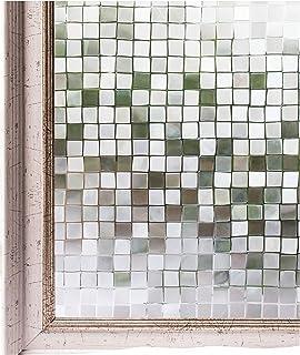 CottonColors 3D窓用フィルム 目隠しシート 何度でも貼り直せる 窓ガラスフィルム 遮熱 紫外線カット のりなし プライバシーガラスフィルム DIY 30x200cm 石道011
