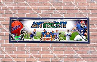 Personalized Customized Florida Gators Poster With Frame, With Your Name On It, Party Door Poster, Room Art Decoration, Wall Decor