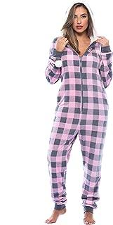 Just Love Buffalo Plaid Adult Onesie/Sherpa Lined Hoody/One Piece Pajamas
