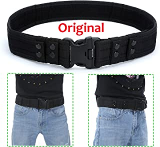 YAHILL Security Tactical Belt Combat Gear Adjustable Heavy Duty Police Military Equipment Accessories Sports Outdoor