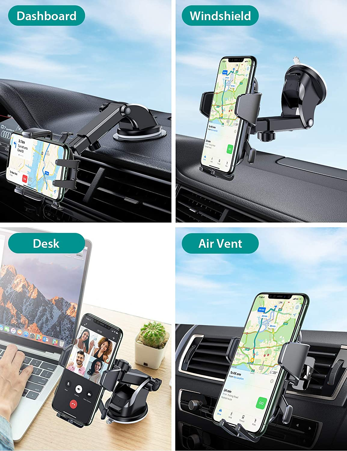 VICSEED multi-functional smartphone holder for ford escape